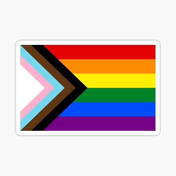 Pride Progress LGBT flag Sticker