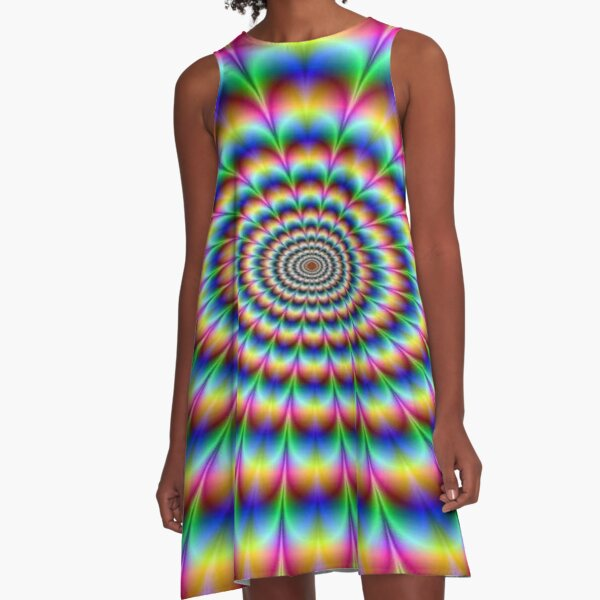 #Op #art - art movement, short for #optical art, is a style of #visual art that uses optical illusions A-Line Dress