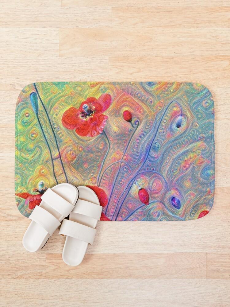 Alternate view of #Deepdreamed Poppies Bath Mat