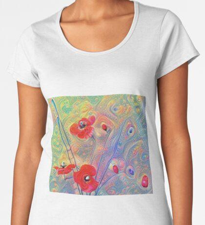 #Deepdreamed Poppies Premium Scoop T-Shirt