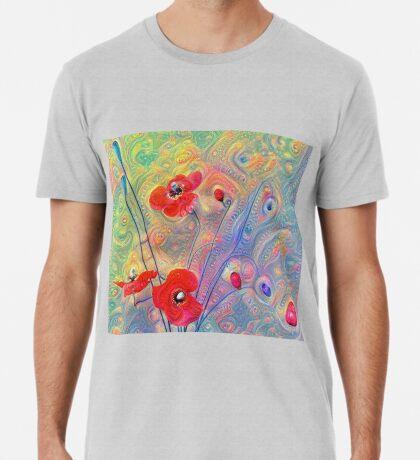 #Deepdreamed Poppies Premium T-Shirt