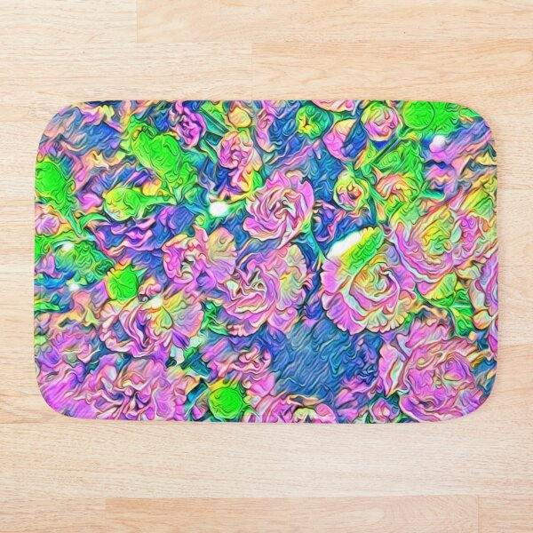 Abstract Flowers Bath Mat
