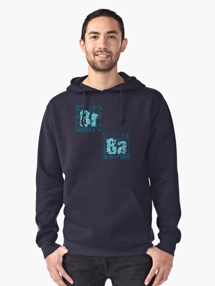 Br Ba Pullover Hoodie Front