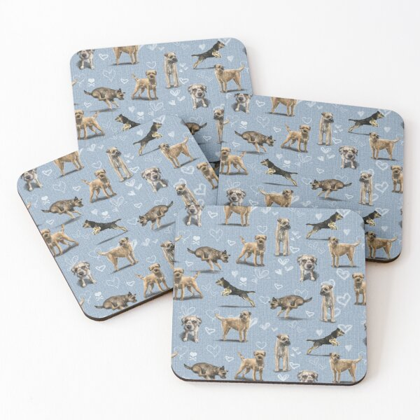 The Border Terrier Coasters (Set of 4)