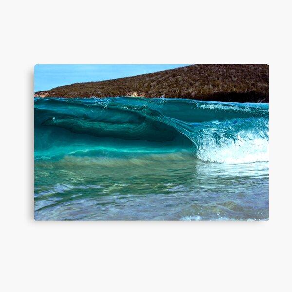 Mini Wave Wineglass Bay Canvas Print