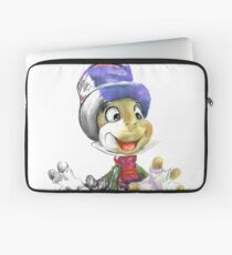 Charcoal and Oil - Jiminy Cricket Laptop Sleeve