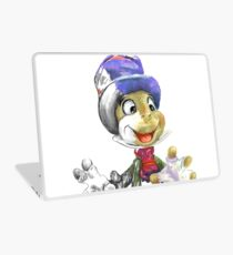 Charcoal and Oil - Jiminy Cricket Laptop Skin