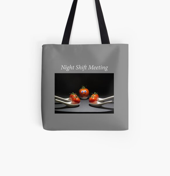 Night Shift meeting All Over Print Tote Bag