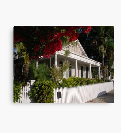 A Conch House in Key West, Florida Canvas Print