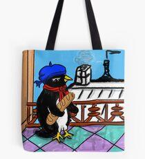 Parisian Penguin Tote Bag