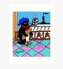 Parisian Penguin Art Print