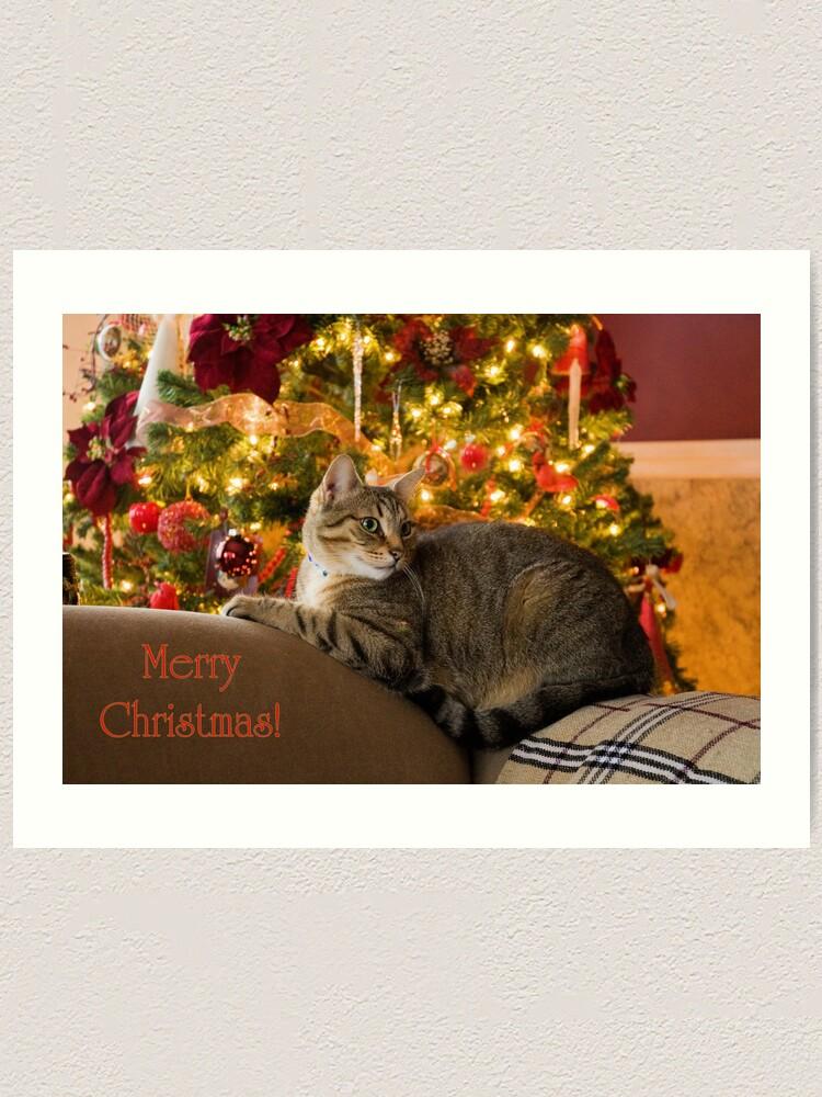 Alternate view of Christmas Kitty  Art Print
