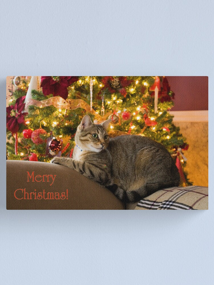 Alternate view of Christmas Kitty  Canvas Print