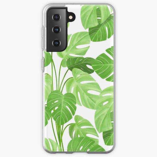 Monstera tropical plants pattern Samsung Galaxy Soft Case