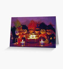Halloween Trolls Still Life Greeting Card