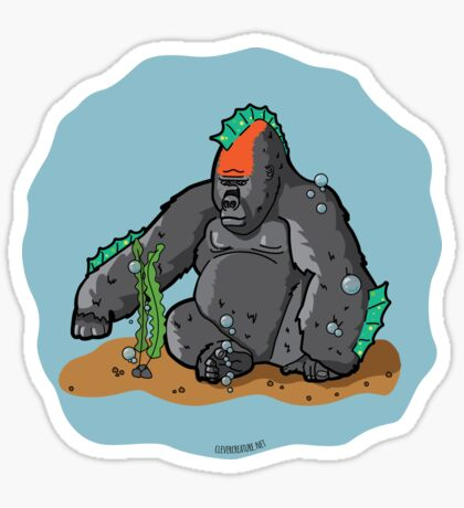 Sea Gorilla Glossy Sticker