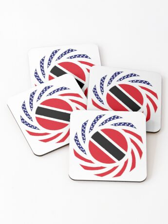 Trinidadian American Multinational Patriot Flag Series Coasters