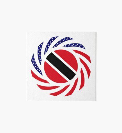 Trinidadian American Multinational Patriot Flag Series Art Board Print