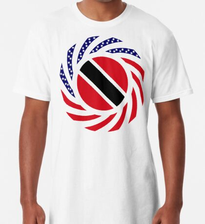 Trinidadian American Multinational Patriot Flag Series Long T-Shirt