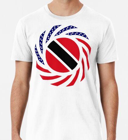 Trinidadian American Multinational Patriot Flag Series Premium T-Shirt