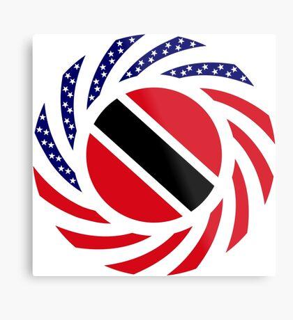 Trinidadian American Multinational Patriot Flag Series Metal Print
