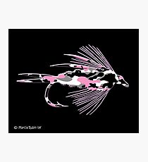 Pink Camo Fly Art Photographic Print