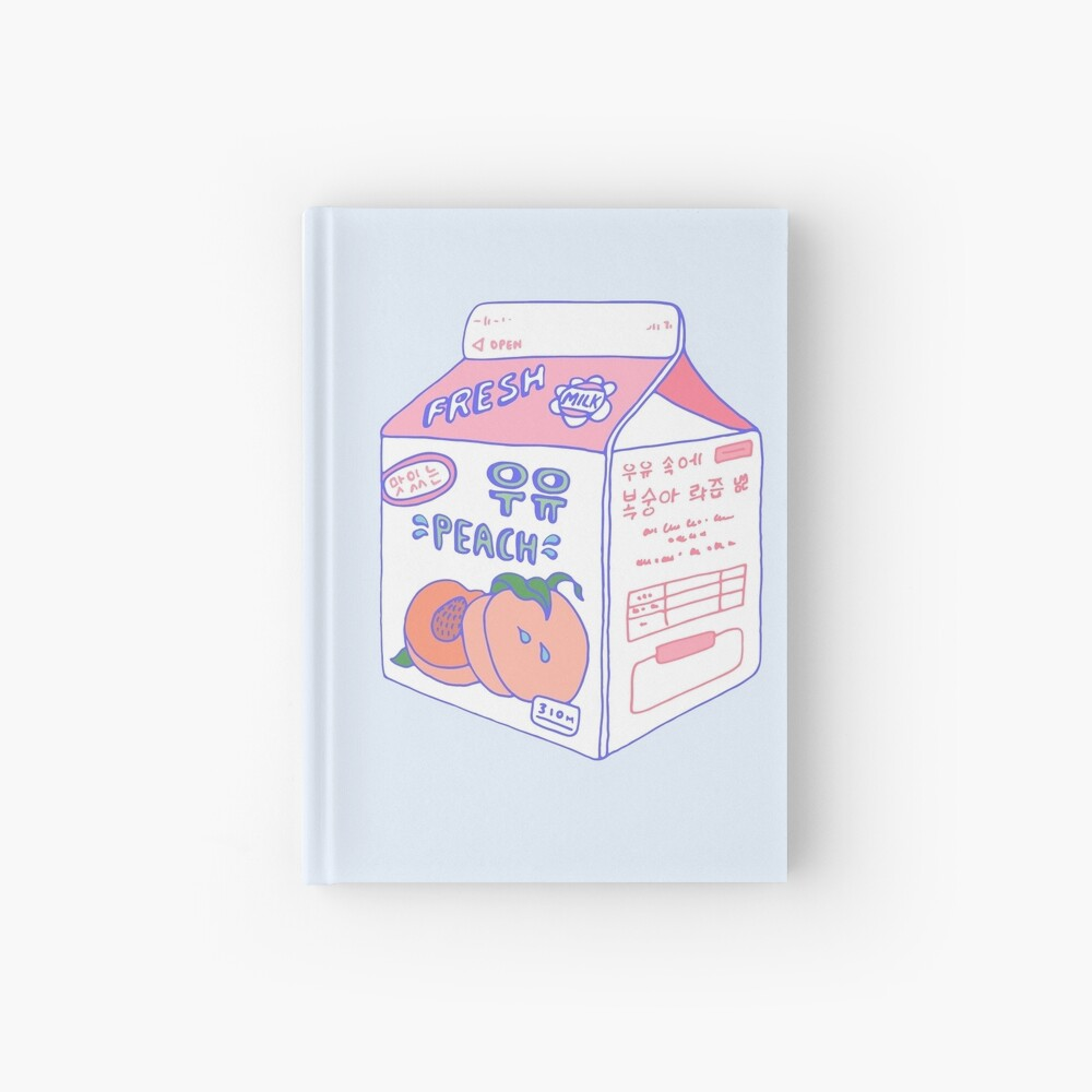 Peach Milk Carton Hardcover Journal