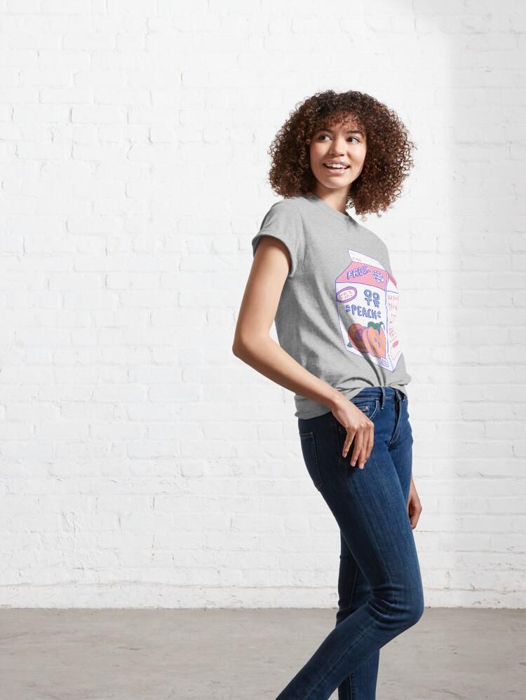 Alternate view of Peach Milk Carton Classic T-Shirt