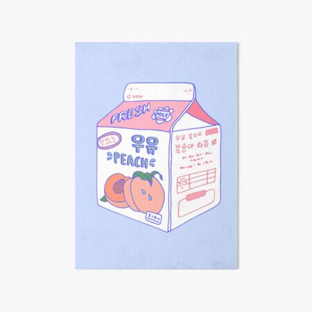 Peach Milk Carton Art Board Print