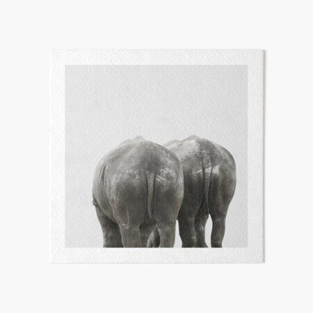 Monochrome - Big buddies Art Board Print