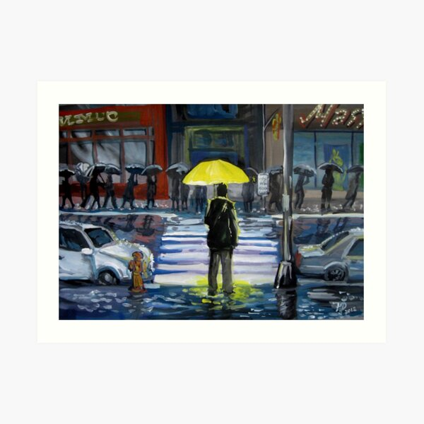 Yellow umbrella part 1 Art Print