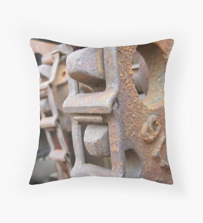 Gear and Chain Throw Pillow