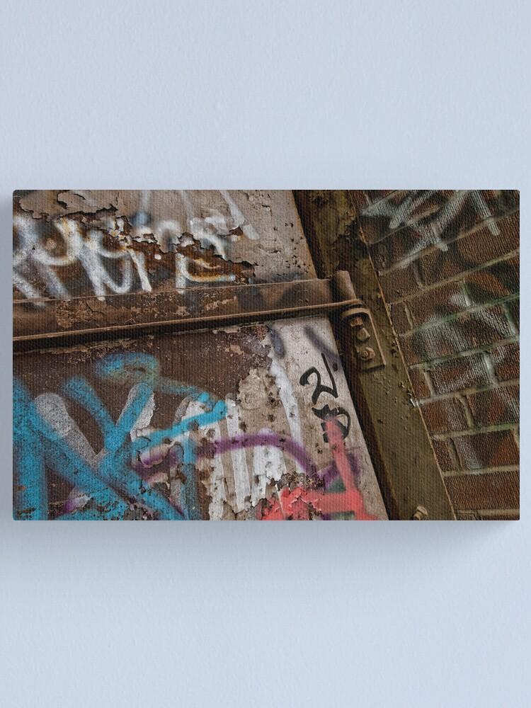 Alternate view of Graffiti at Brick Works Canvas Print