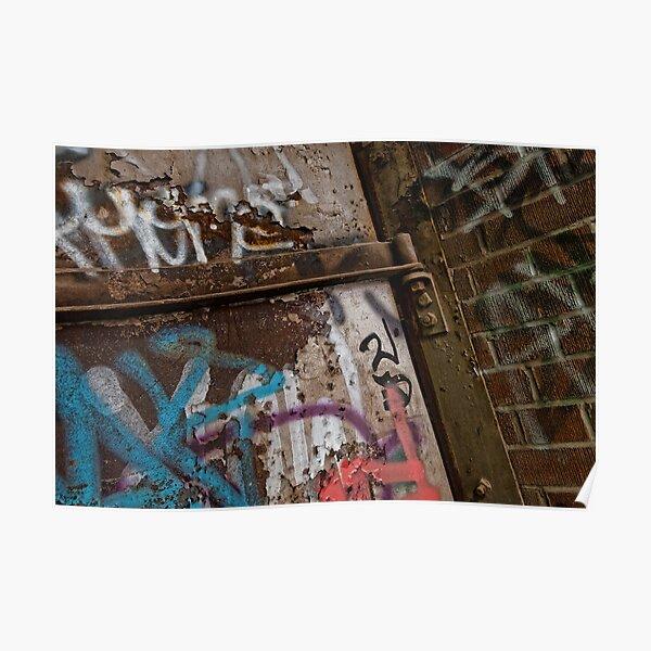Graffiti at Brick Works Poster