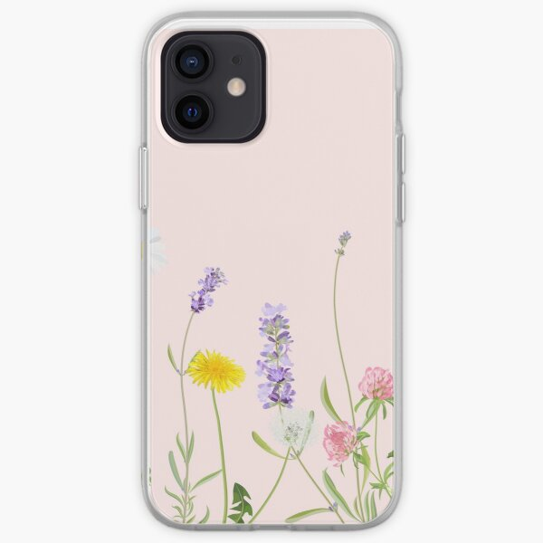 Blush pink - wildflower dreams iPhone Soft Case
