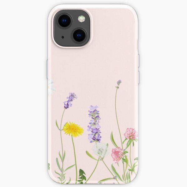 Blush pink - wildflower dreams iPhone Soft Case
