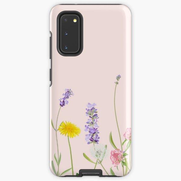 Blush pink - wildflower dreams Samsung Galaxy Tough Case