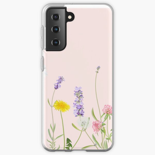 Blush pink - wildflower dreams Samsung Galaxy Soft Case