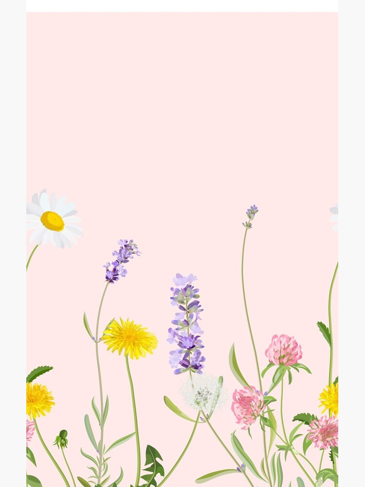 Blush pink - wildflower dreams by peggieprints