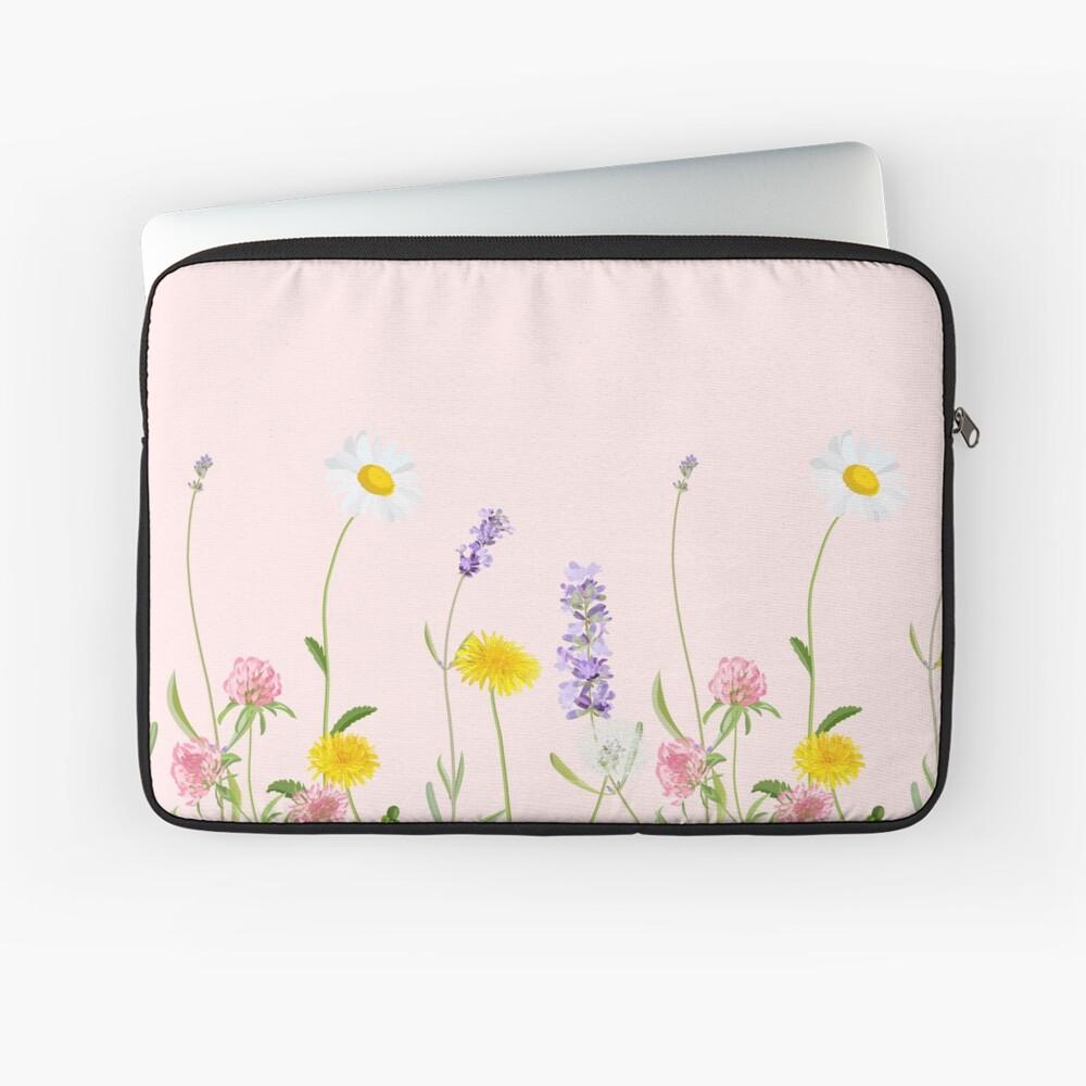 Blush pink - wildflower dreams Laptop Sleeve