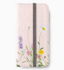 Blush pink - wildflower dreams iPhone Wallet/Case/Skin