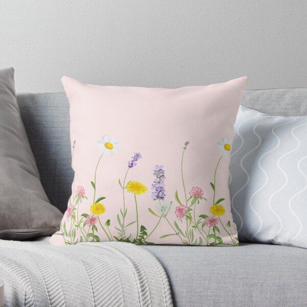 Blush pink - wildflower dreams Throw Pillow