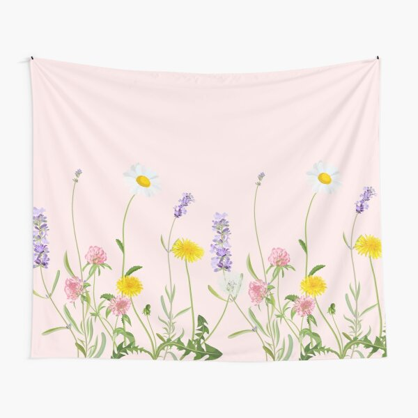 Blush pink - wildflower dreams Tapestry