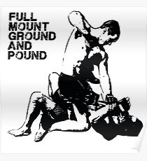 MMA Full mount ground and pound BJJ  Poster