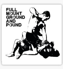 MMA Full mount ground and pound BJJ  Sticker