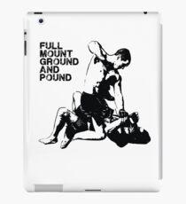 MMA Full mount ground and pound BJJ  iPad Case/Skin