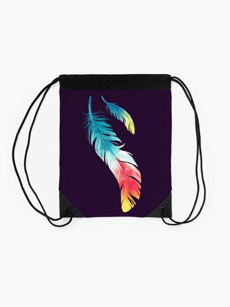 Alternate view of Feather Drawstring Bag