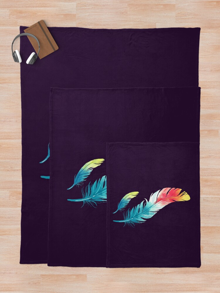 Alternate view of Feather Throw Blanket