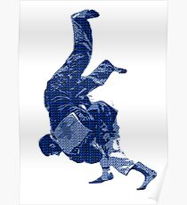 Judo Throw in Gi Poster