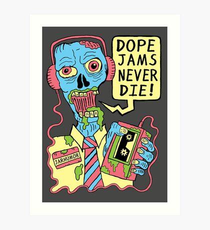 Dope Jams Zombie Lámina artística